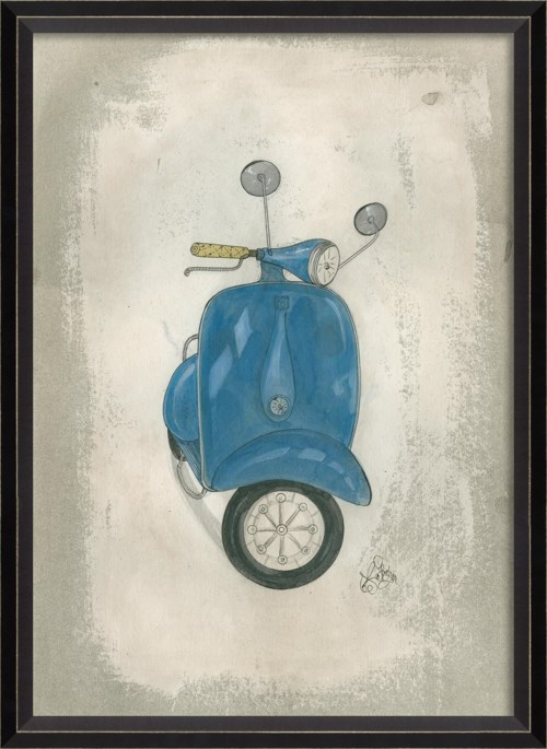 BC Blue Scooter
