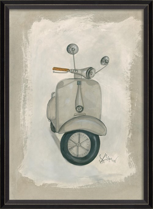 BC White Scooter