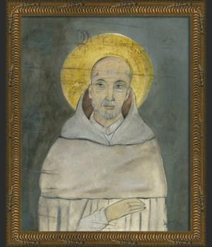 KG Saint Bernard on gray sm