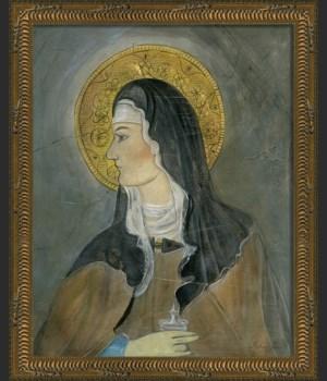 KG Saint Bernadette on gray sm