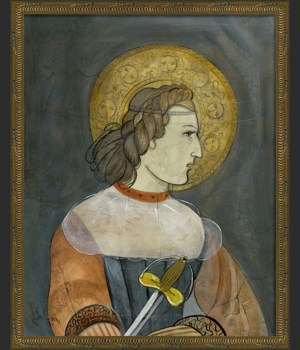 KG Joan of Arc on gray med