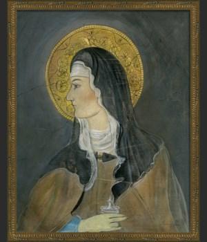 KG Saint Bernadette on gray med