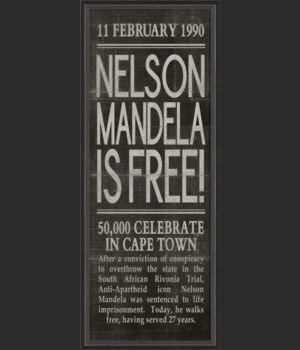 BC Nelson Mandela is Free black