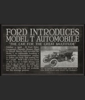 BC Ford Introduces Model T Automobile black