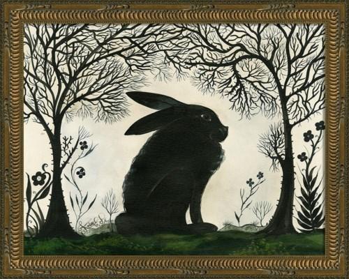 KG Animal Silhouette Rabbit facing right Sm