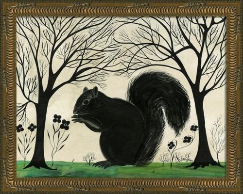 KG Animal Silhouette Squirrel facing left Sm