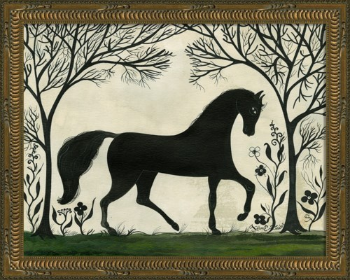 KG Animal Silhouette Horse facing right Sm