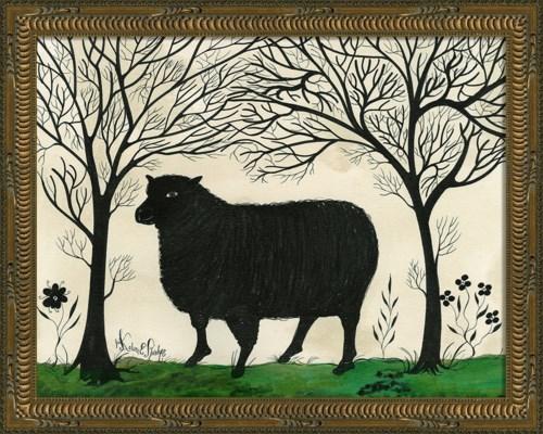 KG Animal Silhouette Sheep facing left Sm