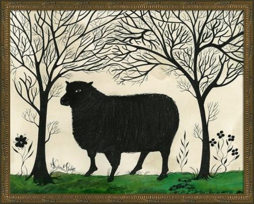 KG Animal Silhouette Sheep facing left Lg
