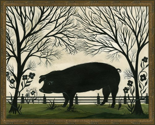 KG Animal Silhouette Pig Facing Left Lg