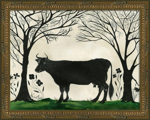 KG Animal Silhouette Cow facing left Sm