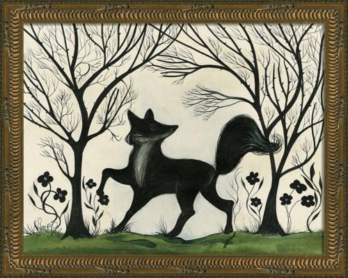 KG Animal Silhouette Fox facing left Sm