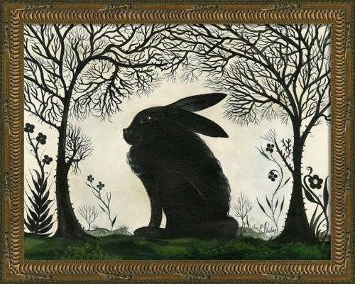 KG Animal Silhouette Rabbit facing left Sm