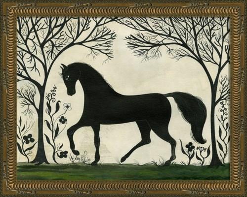 KG Animal Silhouette Horse facing left Sm