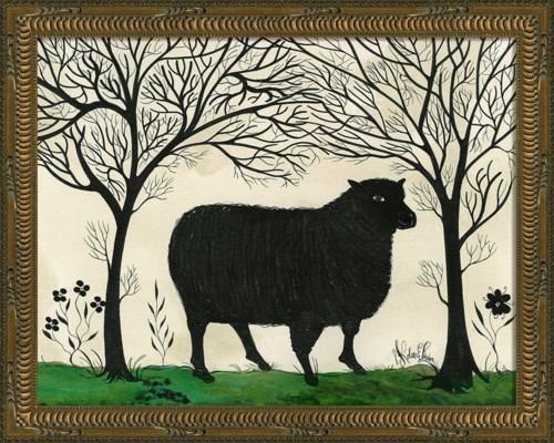 KG Animal Silhouette Sheep facing right Sm
