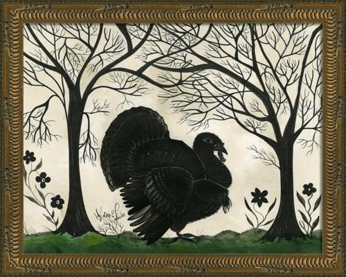 KG Animal Silhouette Turkey facing right Sm