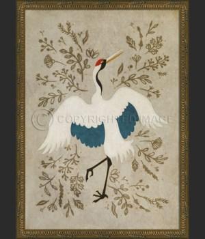 KG Good Fortune Crane on white