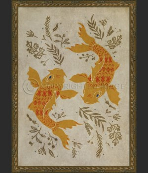 KG Luck and Loyalty Koi on white