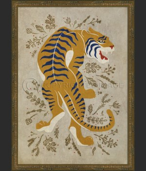 KG The Courageous Tiger on white