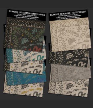Swatch Set WILLIAMSBURG Cozens Brocade