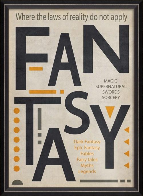 BC Fantasy Poster Black on White sm