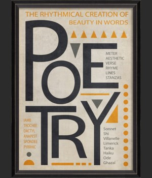BC Poetry Poster Black on White sm