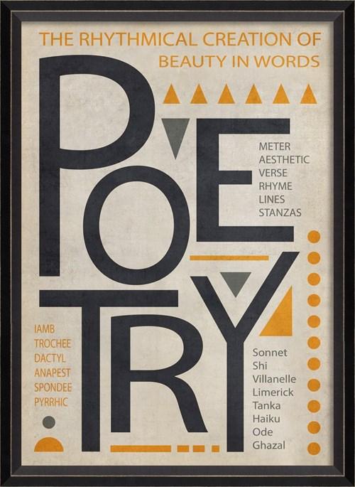 BC Poetry Poster Black on White sm