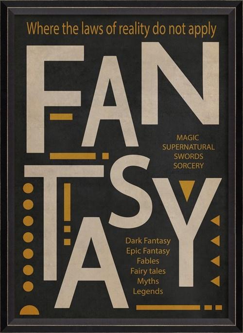 BC Fantasy Poster White on Black sm