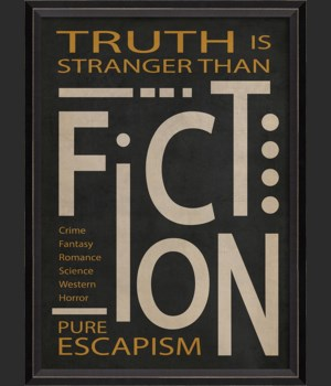 BC Fiction Poster White on Black sm