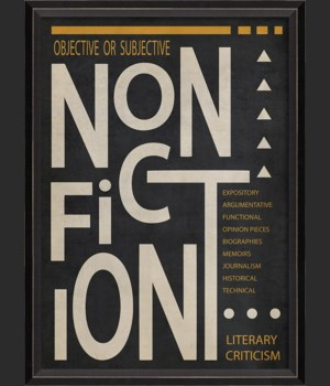 BC NonFiction Poster White on Black sm