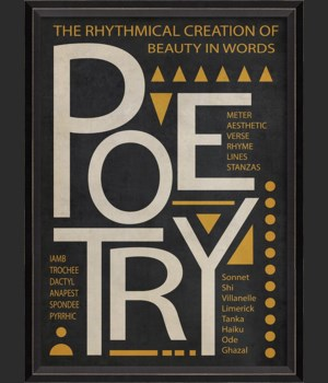 BC Poetry Poster White on Black sm