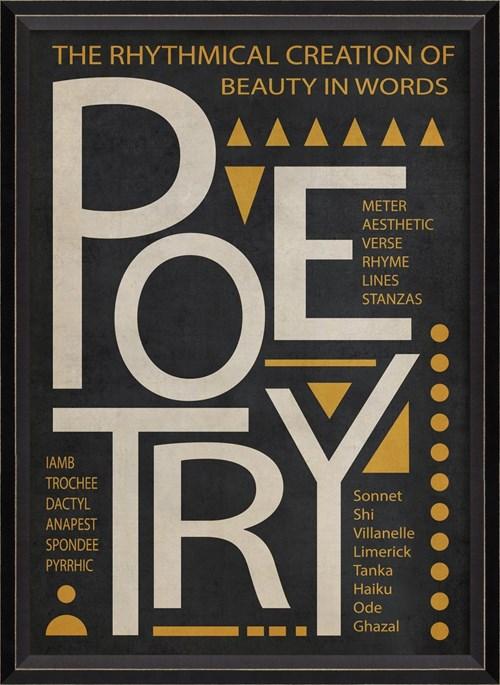 BC Poetry Poster White on Black sm
