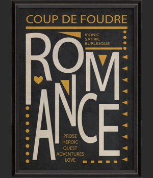 BC Romance Poster White on Black sm