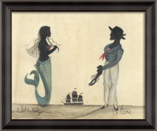 LS Sailor and Mermaid Silhouette