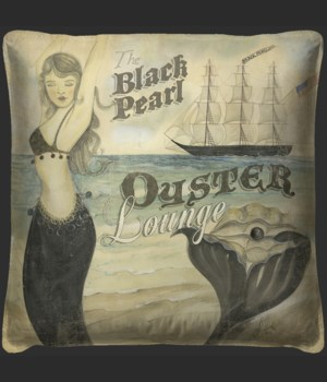 The Black Pearl Oyster Lounge Pillow