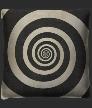 Hypnotic Spiral Pillow
