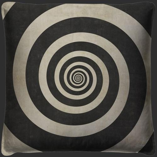 Hypnotic Spiral Pillow