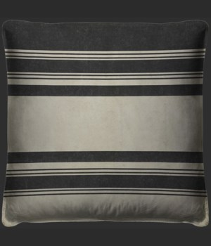 Pattern 50 Organic Stripes Black and White Pillow
