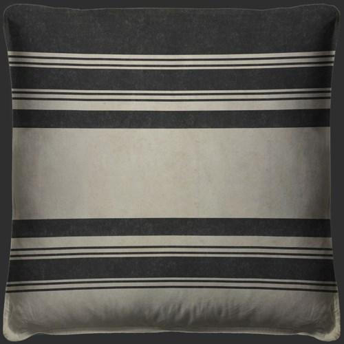 Pattern 50 Organic Stripes Black and White Pillow