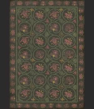 Williamsburg - Crewelwork - Dianthus 70x102