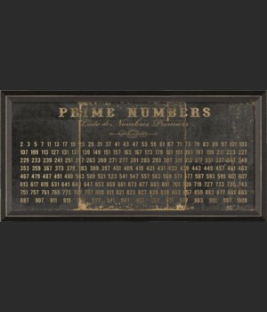 BC Prime Numbers on black