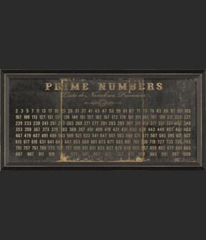 BC Prime Numbers on black