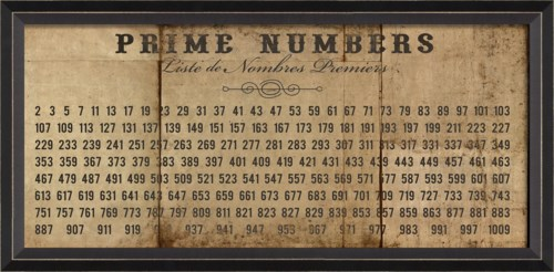 BC Prime Numbers on white