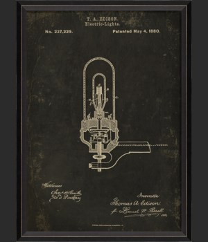 BC Edison Patent US 227229 on Black Sm