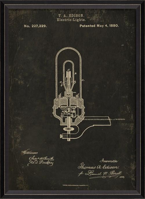 BC Edison Patent US 227229 on Black Sm