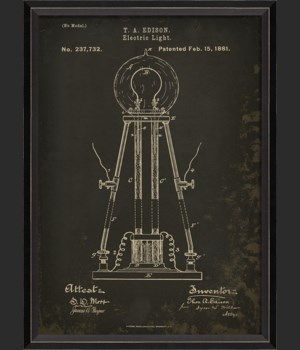 BC Edison Patent US 237732 on Black Sm