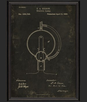 BC Edison Patent US 239745 on Black Sm
