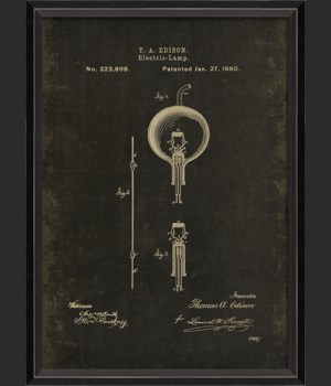 BC Edison Patent US 223898 on Black Sm