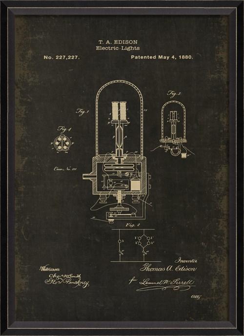 BC Edison Patent US 227227 on Black Sm