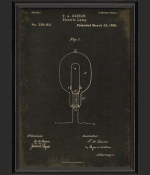 BC Edison Patent US 239153 on Black Sm